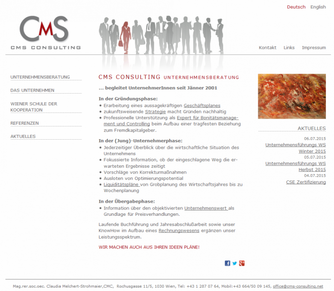 Website für cms-consulting e.U.