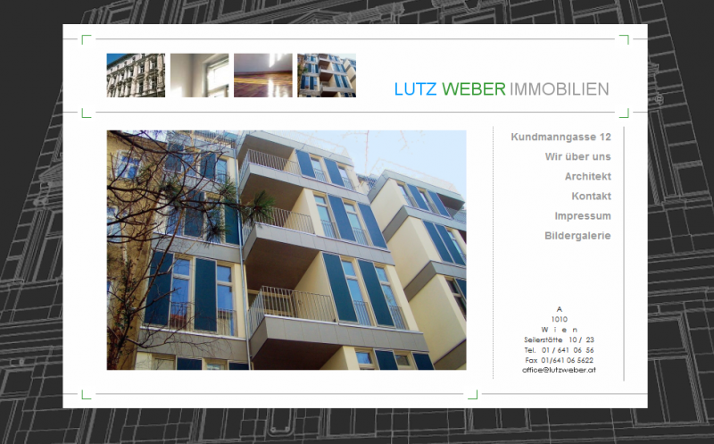 Website für Lutz Weber Immobilien